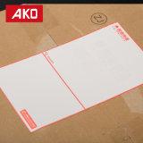 Primeras escrituras de la etiqueta de envío blancas impermeables bien escogidas de la escritura de la etiqueta de direccionamiento del trazador de líneas del papel cristal