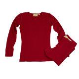 Ropa interior termal de la funda larga de las mujeres merinas de las lanas para el invierno