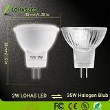 2700K 5000K MR11 MR16 2W 12V AC/DC foco LED