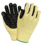 Latex beschichtete Schnitt beständige Aramid Stahldraht-gestrickte mechanische Handschuhe