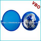 Förderndes Earbud im runden Plastikfall mit gedrucktem Kopfhörer billig