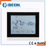 Regulador de temperatura del termóstato de Digitaces con la pantalla táctil usada en edificios