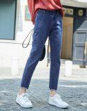 De Broek van de Vrouwen van de katoenen Jeans van het Denim