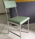 Обшивка из нержавеющей стали обеденный стул