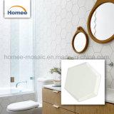 Mattonelle di ceramica della stanza da bagno della Malesia della cucina del mosaico decorativo smussato di esagono