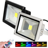 Indicatore luminoso esterno a distanza caldo del punto del proiettore LED del regolatore LED di vendita 10W 20W 30W 50W IP65 RGB