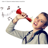 Mini microphone tenu dans la main portatif du karaoke K1, microphone de Bluetooth