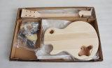 Festes Holz CNC-Schnitt-Langspielplatte-Gitarren-Installationssatz-elektrische Gitarren-Installationssatz