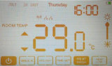 Chimenea eléctrica que mide el tiempo con modo del día de fiesta