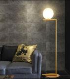 Moderner Entwurfs-Form-Glaskugel-stehendes Fußboden-Lampen-Licht für Foyer oder Schlafzimmer