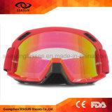 La seguridad protectora a prueba de polvo del motocrós de la ventilación flexible de la alta calidad TPU rasga apagado anteojos
