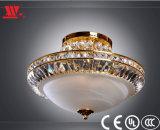 Kristalldecken-Lampe mit bereiftem Glasdeckel