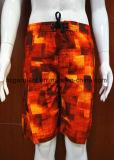 Флористический цветастый Beachwear Swimwear краткости прибоя печати для людей/женщин
