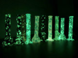 Ontzagwekkend! De nieuwe Pijpen van het Silicone van de Grafiek van de Premie gloed-in-Donkere als het Onverbrekelijke Roken van het Glas