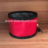 De draagbare Opvouwbare Plastic Kom van de Hond van de Ring Kleine Nylon
