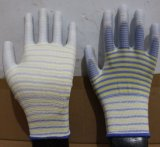 13 gants de polyester d'interpréteur de commandes interactif de mesure avec l'unité centrale ont enduit pour l'industrie électronique