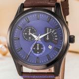 De Zwitserse Pols van het Kristal van het Horloge van de Mensen van het Kwarts van het Embleem van de douane voor de Mens (wy-17009B)