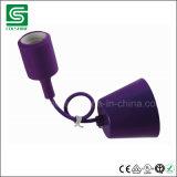 E27 ES 기본적인 전구 램프를 위한 실리콘 플라스틱 펀던트 빛