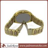 Fleck-Stahluhr-Gold überzogene Uhr-Form