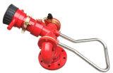 거품 또는 물 이중 화재 모니터를 가진 공장 공급
