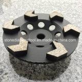 Rodas do copo do diamante do segmento da seta para a moedura concreta