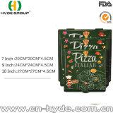 7-дюймовый изолированный картонной упаковки пиццы с адаптированной печать