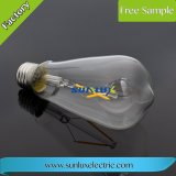 세륨 RoHS 5W E27 황금 커버 유리 LED 필라멘트 빛