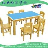 Rectángulo ignífugo de madera de la escuela de escritorio con capacidad de almacenamiento para los niños (HG-4004)