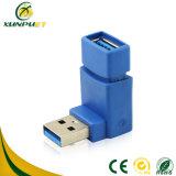 Aangepaste Draagbare 90 Hoek 3.0 USB zet de Adapter van de Macht van de Gegevens van de Stop om