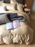De duidelijke Reeks van het Beddegoed van de Kleur 100%Cotton 4PCS (Beige&Grey)