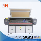 Machine de découpage alimentante automatique de laser de trois têtes pour le tissu de textile (JM-1810-3T-AT)