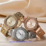 한 쌍 (WY-17007E)를 위한 주문 로고 스위스 석영 시계 형식 손목 시계