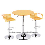 바 의자 바 테이블로 놓이는 PP 물자와 바