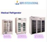 Refrigerador 660L vacinal do hospital ereto criogênico médico