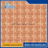 201-304 matériau gravé en relief décoratif de la plaque 3D d'acier inoxydable