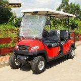 Тележка гольфа 4+2 Seaters металлическая красная электрическая с сертификатом Ce