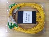 Divisor de la fibra del PLC del rectángulo del ABS 1*32 con el conector de LC/APC para CATV/FTTX