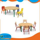 MDF 아이들 취학 전 가구 둥근 타원형 테이블