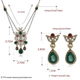 Oorringen en Halsband van Zircon van de Vrouwen van de Juwelen van het Ontwerp van de Manier van Hotsale de de Vastgestelde