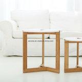호텔과 홈 사용 단단한 나무 석판 커피용 탁자 새로운 현대 대나무 나무로 되는 커피용 탁자