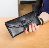 Держатель карты из натуральной кожи черного цвета датчика хода педали сцепления Wallet кошелек для женщин
