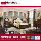 2017寝室セット(AS818)のための最新のデザイン純木のベッド