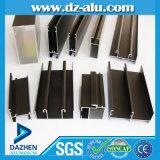 Profil d'aluminium de l'aluminium 6063 de la Tanzanie pour la porte de guichet