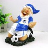 2017 de Gnomen die van de Tuin van de hars de Decoratie van het Huis van de Voetbal spelen