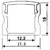 Светодиодный алюминиевый профиль для светодиодного освещения с маркировкой CE RoHS линейного перемещения