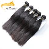 Уток человеческих волос естественной девственницы волос высокого качества индийский