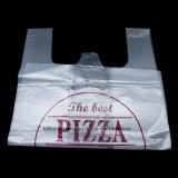Saco de compra descartável do alimento do t-shirt do portador da pizza do PE