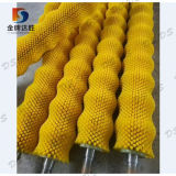 Escobilla de nylon industrial de las patatas del rodillo para la arandela