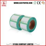 Escritura de la etiqueta auta-adhesivo termal de la calidad para la impresión del precio