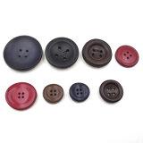 Les trous du rouge 4 garnissent en cuir des boutons avec le bord arrondi d'élévation